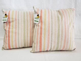 2  Garden Party Pillows   18  x 18
