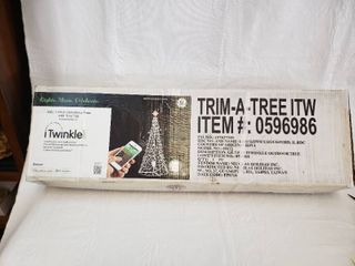 GE Musical iTwinkle Tree Outdoor Christmas Decoration   Bluetooth