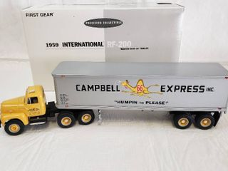 First Gear 1959 International RF 200 Tractor With 35ft Trailer   Model Campbells 66 Express 18 1923