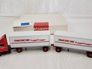 Winross Double American Freightways Diecast