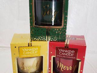 3  7oz Yankee Candles