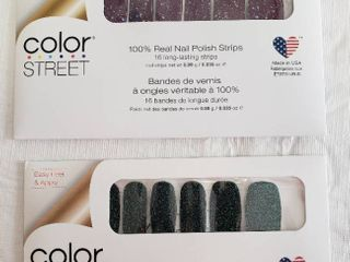 Color Street 100  Real Nail Polish Strips  All Spruced Up and Bordeaux Glitz