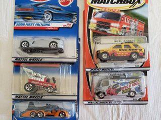 6  HotWheels Matchbox Cars