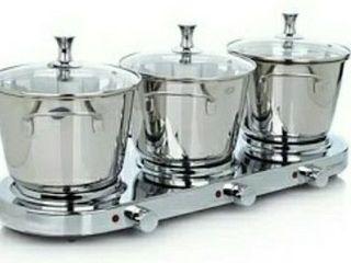3 5QT Triple Burner Buffet Set