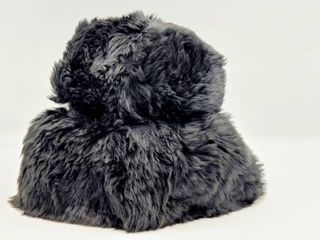 Vintage Black Tuscan Dyed lamb Fur Hat Womens Made in Italy