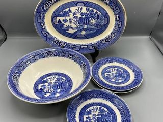 6  Piece Homer laughlin Bowls  Plates and Serving Tray