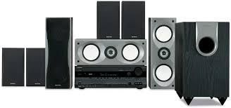 Top of the line  Onkyo HD Surround Sound System w 7 speakers   sub woofer