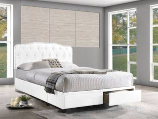 Best Quality Furniture White Queen Size Storage Bed