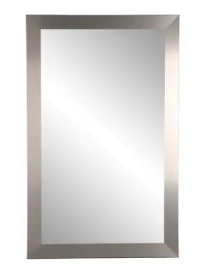 Brushed Nickel Industrial Accent Mirror
