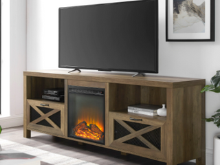The Gray Barn 70 inch Rustic Fireplace TV Console Retail 408 49