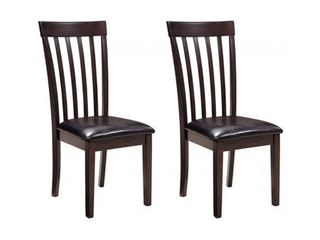 Two Dark Brown Hammis Dining Room Chairs