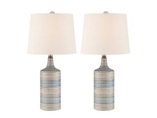 Green Muriel Table lamp Set