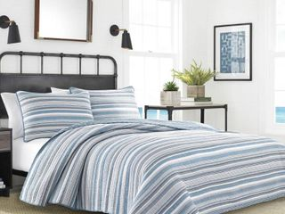 Jettison Cotton Grey Quilt and 2 Shams   King