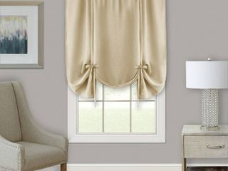 Achim Darcy Window Curtain Tie Up Shade   58x63   Tan   Set of Two