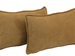 Copper Grove Ashley Rectangular Microsuede Back Support Throw Pillows  Set of 2