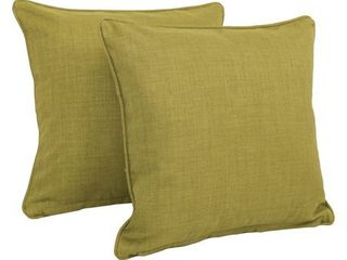 Avocado   Blazing Needles 17 inch All Weather Throw Pillow  Set of 2