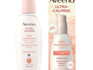 Aveeno Ultra Calming Daily Moisturizer Sunscreen Broad Spectrum SPF 30   lOTION