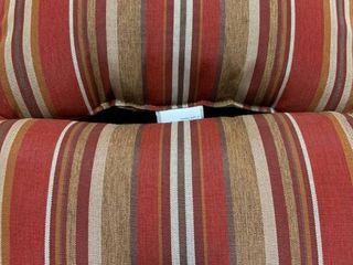 Red Neutral Striped Rectangular Throw Pillows 12inl x 20inW x 4 5inH   Set of Two