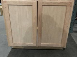 lightwood Cabinet  29 75inWx35inHx23 5inD