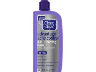Clean   Clear Advantage Acne Control 3 in 1 Foaming Face Wash   8floz