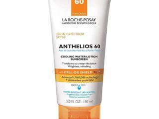 la Roche Posay Anthelios Cooling Water lotion Face and Body Sunscreen SPF 60   5 0 fl oz