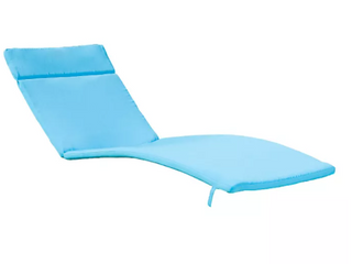 Set of Two   Outdoor Chair Cushions with Ties and Head Rest