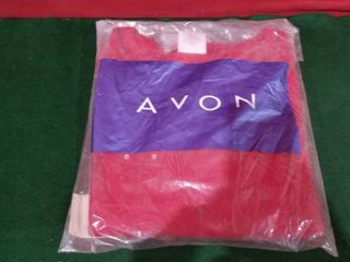 AVON FlORAl APPlIQUE SWEATER SIZE lARGE  14 16  RED