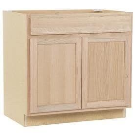 Kitchen Classics 35 in x 36 in x 23 75 in Unfinished Oak Door and Drawer Base Cabinet