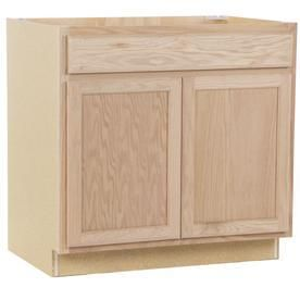 Kitchen Classics 35 in x 36 in x 23 75 in Unfinished Oak Sink Base Cabinet