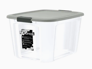 NoBreak 20 5 Gallon Clear Tote  lids Not Included  Set of 2
