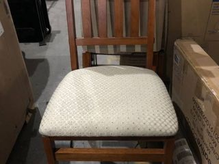 Wooden Dining Chair w  Cushion  Set of 2