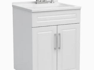 Style Selections All in One laundry Cabinet White Finish  1694069