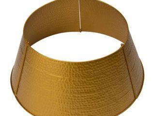 Gold  Glitzhome 26 D Hammered Metal Tree Collar