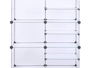 White   9 Cube Storage Unit  Interlocking Organizer with Divider Design  Modular Cabinet