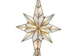 Kurt Adler 10 light 11 4 Inch Capiz Bethlehem Star Treetop
