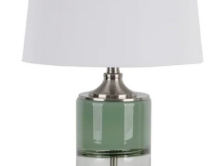 Green   Clear Oden Art Glass and Crystal lED Table lamp Retail  83 99