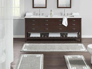 24 x 72   Grey  Madison Park Ethan Cotton Tufted Bath Rug