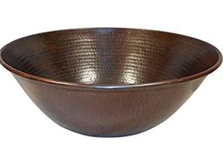 Brown Teardrop Drain Handmade 14 Copper Bathroom Sink  Mexico  Retail  161 49