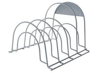 Grey  lavish Home Storage Pantry Rack Shelf for Pots and Pans