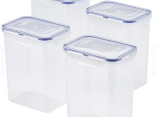 Easy Essentials Pantry 7 6C Rectangular Food Storage Container  Set 4