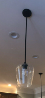Mid Century Island Pendant Seeded Glass Shade Ceiling lighting for Powder Room D 5    H 8 7  Retail  79 48