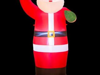 Santa   Glitzhome 12  lighted Inflatable Decor Retail 98 99
