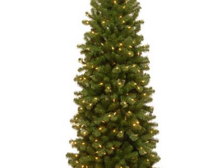 7 ft  North Valley Spruce Pencil Slim Tree with Clear lights   7  Retail 139 99