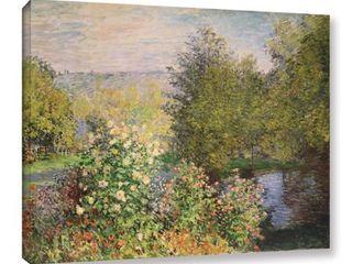 8x10   Bridgeman Claude Monet s  A Corner of The Garden at Montgeron  1876  Gallery Wrapped Canvas