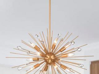 lorena 12 light Sputnik Chandelier   Gold