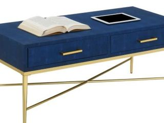 Modern and Contemporary Fabric Cocktail Table   Blue