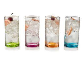 libbey Impressions Colors Tumbler Glasses  Set of 4