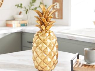 Stunning and Sparkly Golden Pineapple Decor