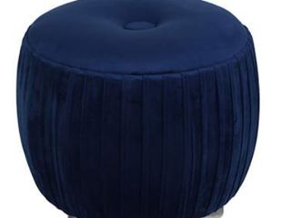 Cortesi Home   Navy Blue   Foot Stool Ottoman