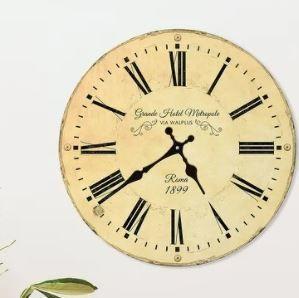 Yellow   Walplus Vintage Antique Roman Wall Clock Decoration Home Design Idea
